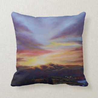 Morning Light in CHB Sunrise Painting Throw Pillow