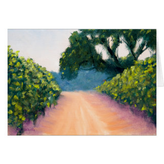 Morning Light in the Vineyards Card