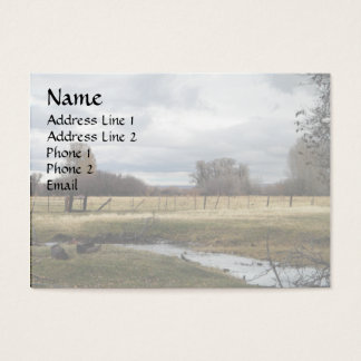 Morning Light on Back Pasture Business Card