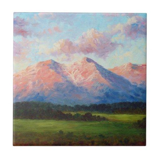 Morning Light On Mount Shavano Ceramic Tile