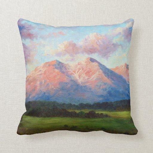 Morning Light On Mount Shavano Pillow