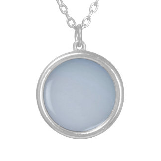 MORNING LIGHT (pale blue fade) ~ Round Pendant Necklace