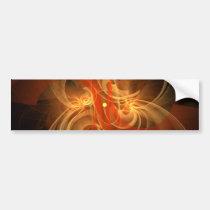 morning, magic, abstract, art, bumper, sticker, Bumper Sticker with custom graphic design