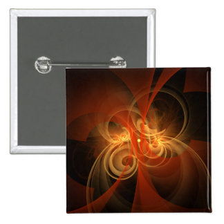 Morning Magic Abstract Art Button (square)