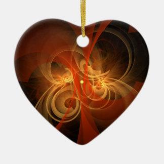 Morning Magic Abstract Art Heart Ornament