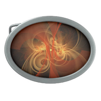 Morning Magic Abstract Art Oval Belt Buckle