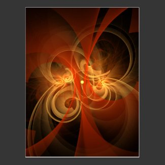 Morning Magic Abstract Art Postcard