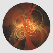 morning, magic, abstract, art, round, sticker, Sticker with custom graphic design