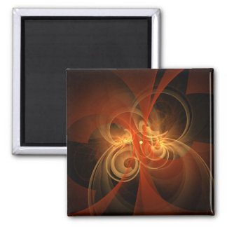 Morning Magic Abstract Art Square Magnet