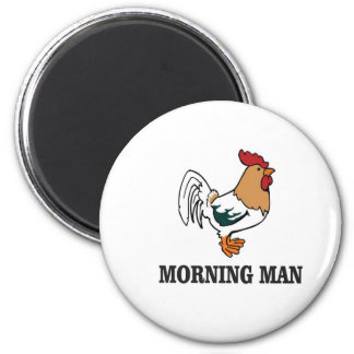 morning man rooster magnet