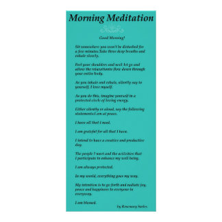 Morning Meditation Rack Card