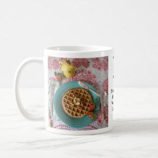 Morning Menu: Waffles Classic White Coffee Mug