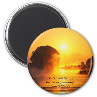 Morning Mercies 2 Inch Round Magnet