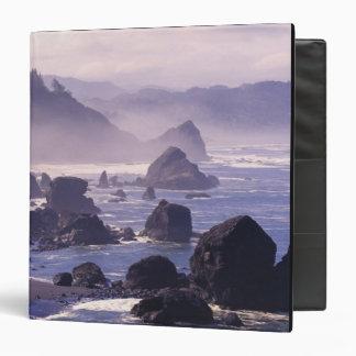 Morning mist along Oregon coast near Nesika, 3 Ring Binder