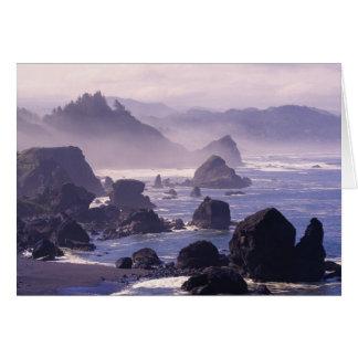 Morning mist along Oregon coast near Nesika, Card