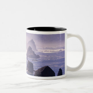 Morning mist along Oregon coast near Nesika, Two-Tone Coffee Mug