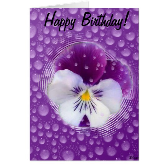 Morning Mist and Pansy Card