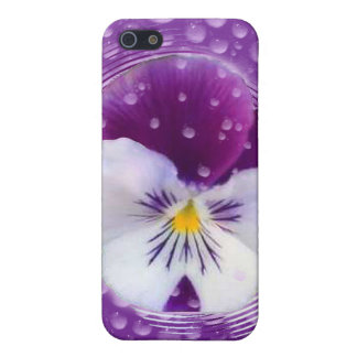 Morning Mist and Pansy iPhone SE/5/5s Case