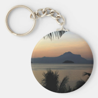Morning Mist Background Key Chains