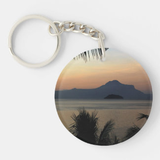 Morning Mist Background Key Chain