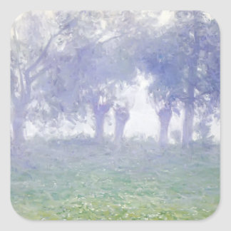 Morning Mist by Guy Rose Square Sticker