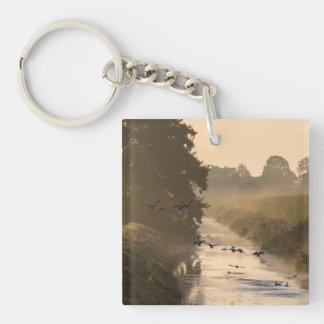 Morning Mist Dülmen North Rhine-Westphalia Germany Keychain