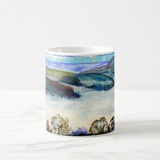 Morning Mist Exe Valley Devon Lanscape Coffee Mug