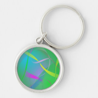 Morning Mist Hazy Green Abstract Colors Key Chain