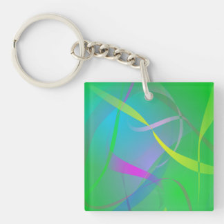 Morning Mist Hazy Green Abstract Colors Key Chains