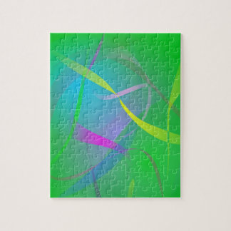 Morning Mist Hazy Green Abstract Colors Jigsaw Puzzle