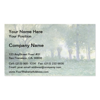 Morning Mist (known as Late Spring) by Guy Rose Double-Sided Standard Business Cards (Pack Of 100)