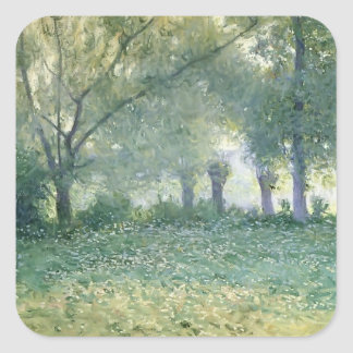 Morning Mist (known as Late Spring) by Guy Rose Square Sticker