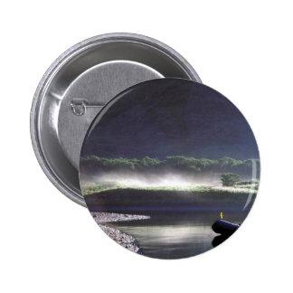 Morning Mist on Chief Cove, Kodiak Pinback Button