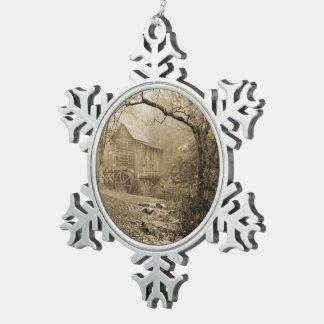 Morning Mist Snowflake Pewter Christmas Ornament