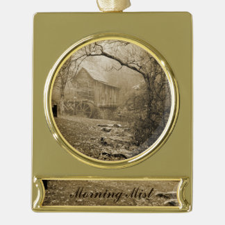 Morning Mist Gold Plated Banner Ornament