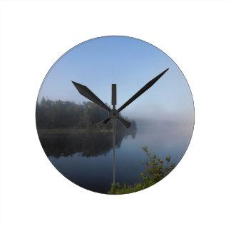 Morning Mist Round Clock