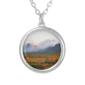 Morning mist, Wilpena Pound Silver Plated Necklace