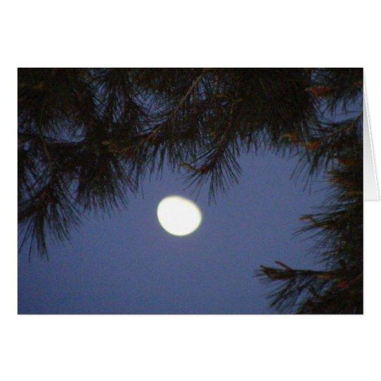 Morning Moon  Blank Card / Poem on Back