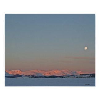 Morning Moonscape 16x20 Photo Print