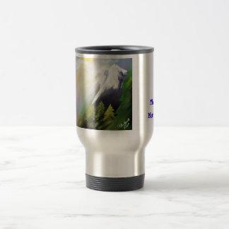 Morning Mountains 15 Oz Stainless Steel Travel Mug
