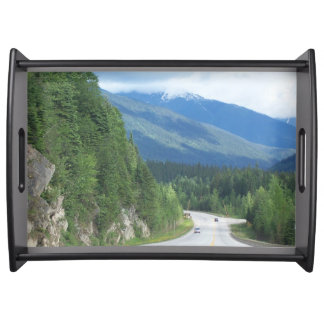 Morning Mountains Serving Tray