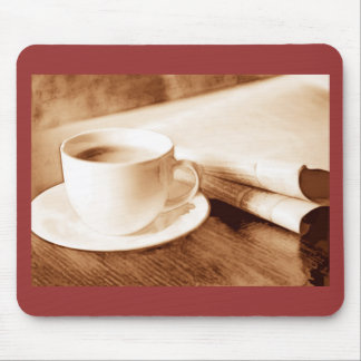Morning News and Coffee Mouse Pad
