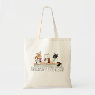 Morning news desk tote bag
