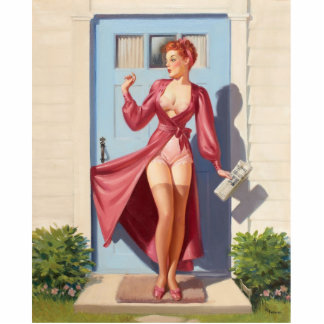 Morning Newspaper Pin-Up Girl Statuette