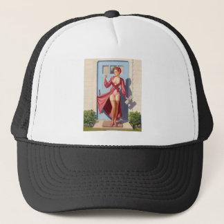 Morning Newspaper Pin-Up Girl Trucker Hat