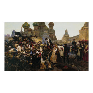Morning of Execution of Streltsy by Vasily Surikov Poster
