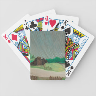 Morning of rain bicycle playing cards