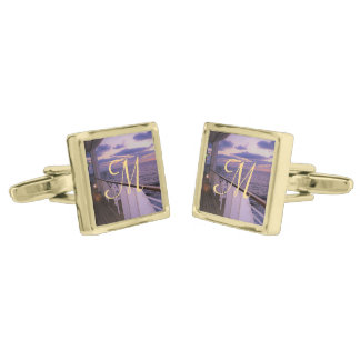 Morning on Deck Monogrammed Cufflinks