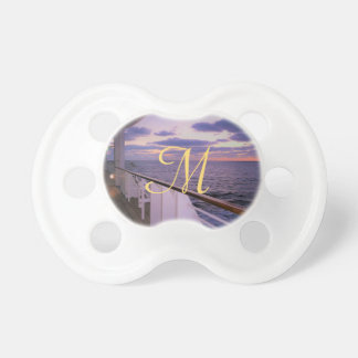 Morning on Deck Monogrammed Pacifier
