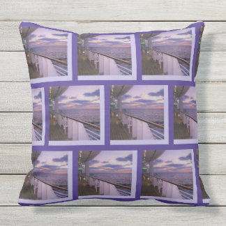 Morning on Deck Pattern Outdoor Pillow